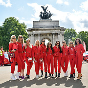Cash & Rocket Photocall at Wellington Arch, London, UK