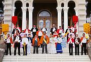 Royal Court, Aloha Week, Iolani Palace, Honolulu, Hawaii