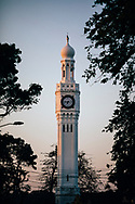 A clocktower in the early morning light, Jaffna, Sri Lanka, Asia
