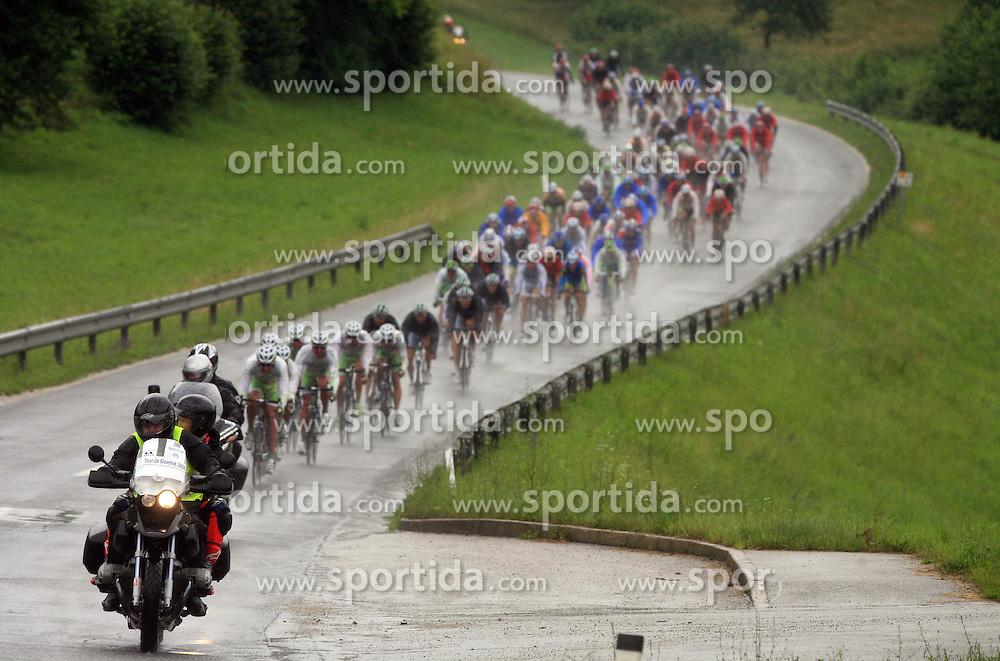 Peloton in last 4th stage of the 15th Tour de Slovenie from Celje to Novo mesto (157 km), on June 14,2008, Slovenia. (Photo by Vid Ponikvar / Sportal Images)/ Sportida)