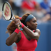 Serena Williams, USA, in action against Sloane Stephens, USA, during the Women's Singles competition at the US Open. Flushing. New York, USA. 1st September 2013. Photo Tim Clayton