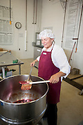 Making raspberry jam at the Hanover County Cannery with Agriberry.