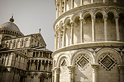 The Leaning Tower and Pisa Cathedral, Pisa, Tuscany, Italy