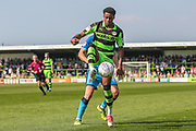 Forest Green Rovers Reece Brown(10) controls the ball during the EFL Sky Bet League 2 match between Forest Green Rovers and Grimsby Town FC at the New Lawn, Forest Green, United Kingdom on 5 May 2018. Picture by Shane Healey.