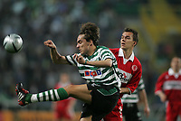 PORTUGAL - LISBOA 17 MARCH 2005: BETO #22 and SZILARD NEMETH #8  in the UEFA Cup knockout phase, match Sporting CP (0) vs Middlesbrough FC (0), held in Alvalade 21 stadium.  17/03/2005  20:13:32<br />(PHOTO BY: NUNO ALEGRIA/AFCD)<br /><br />PORTUGAL OUT, PARTNER COUNTRY ONLY, ARCHIVE OUT, EDITORIAL USE ONLY, CREDIT LINE IS MANDATORY AFCD-PHOTO AGENCY 2004 © ALL RIGHTS RESERVED