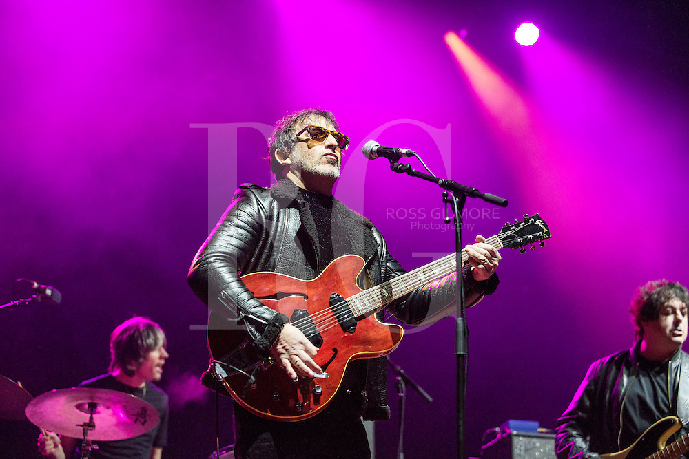 Ian Broudie Of Lighting Seeds performs at the bandstand in Edinburgh's Pricess street gardens as part of Edinburgh's Hogmanay celebrations on Dec 31, Edinburgh, Scotland 2016. Photo by Ross Gilmore