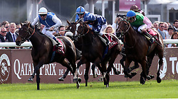 Silasol (L) ridden by Olivier Peslier beats Topaze Blanche  (r) ridden by Frankie Dettori to win the Total Prix Marcel Boussac - Criterium Des Pouliches at Lonchamp in Paris, France, October 7, 2012. Photo by i-Images.