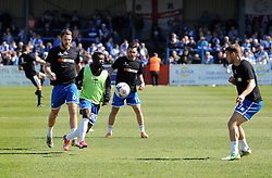 Bristol Rovers warm up - Photo mandatory by-line: Neil Brookman/JMP - Mobile: 07966 386802 - 18/04/2015 - SPORT - Football - Dover - Crabble Athletic Ground - Dover Athletic v Bristol Rovers - Vanarama Football Conference