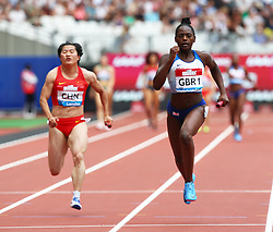 July 22, 2018 - London, United Kingdom - L-R  People's Republic of China Great Britain and Northern Ireland  Team 1 during  4 x 100m Relay Women.during the Muller Anniversary Games IAAF Diamond League Day Two at The London Stadium on July 22, 2018 in London, England. (Credit Image: © Action Foto Sport/NurPhoto via ZUMA Press)