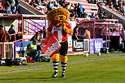 Exeter City mascot Grecian the Lion before the EFL Sky Bet League 2 match between Exeter City and Lincoln City at St James' Park, Exeter, England on 17 May 2018. Picture by Graham Hunt.