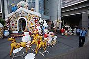 Christmas display at Saigon Centre Shopping Mall.