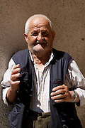 Sasso di Castalda (PZ), 19.07.2009, Italy - Sasso di Castalda è un paesino della provincia di Potenza che conta circa mille abitanti. E' paese natale dei genitori di Rocco Petrone, direttore del lancio Nasa che portò il primo uomo sulla luna nel 1969. Nella Foto: Rocco Petrone, 86 anni, cugino del più famoso Rocco Petrone, direttore del lancio Nasa che portò il primo uomo sulla luna nel 1969. .Photo by © Giovanni Marino/OTNPhotos - obligatory credit -