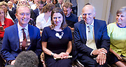 Liberal Democrat Leadership press conference. <br /> Tim Farron - outgoing leader <br /> <br /> Jo Swinson - deputy leader <br /> Vince Cable - new leader <br /> <br /> Wife of Vince Cable - Rachel <br /> <br /> <br /> 20th July 2017 <br /> at The St Ermin&rsquo;s Hotel, London. Great Britain <br /> &nbsp;<br /> <br /> <br /> Photograph by Elliott Franks <br /> Image licensed to Elliott Franks Photography Services