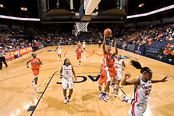 Clemson guard/forward Lele Hardy (11) shoots against Virginia.  The Virginia Cavaliers women's basketball team defeated the Clemson Tigers 83-71 at the John Paul Jones Arena in Charlottesville, VA on February 21, 2008.