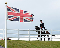 Image ©Licensed to i-Images Picture Agency. 04/07/2014. Barbury, United Kingdom. Day 2. William Fox-Pitt on Bay My Hero during Dressage test. Picture by  i-Images