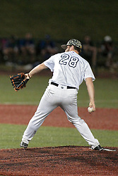06 June 2014:  Cole Brocker during a Frontier League Baseball game between the Frontier Freedom and the Normal CornBelters at Corn Crib Stadium on the campus of Heartland Community College in Normal Illinois