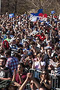"Brooklyn, NY - 17 April 2016. A small part of the crowd of thousands who came to hear Sanders speak. Vermont Senator Bernie Sanders, who is running as a Democrat in the U.S. Presidential primary elections, held a campaign ""get out the  vote"" rally in Brooklyn's Prospect Park."