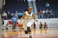 "Ole Miss' Toree Thompson (1) vs. Christian Brothers in an exhibition basketball game at the C.M. ""Tad"" Smith Coliseum in Oxford, Miss. on Friday, November 7, 2014. (AP Photo/Oxford Eagle, Bruce Newman)"