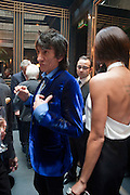 RONNIE WOOD; ANA ARAUJO; ,  DSquared2 Launch of their Classic collection. Tramp. Jermyn St. London. 29 June 2011. <br /> <br />  , -DO NOT ARCHIVE-© Copyright Photograph by Dafydd Jones. 248 Clapham Rd. London SW9 0PZ. Tel 0207 820 0771. www.dafjones.com.