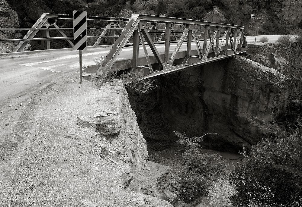 Bridge crossing a ravine along the Apache Trail