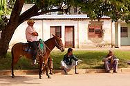 Man on mule in Rodas, Cienfuegos Province, Cuba.
