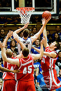 21 November 2009: Duke Soph,. Forward #21 Miles Plumlee battles inside for a score..Duke Rolls Past Radford 104-67 .Mandatory Credit: Mark Abbott / Southcreek Global
