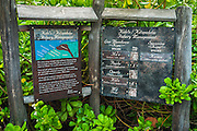 Interpretive display at the Four Seasons Hualalai, Kohala Coast, Hawaii USA
