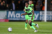 Forest Green Rovers Reece Brown(10) on the ball during the EFL Sky Bet League 2 match between Cambridge United and Forest Green Rovers at the Cambs Glass Stadium, Cambridge, England on 2 October 2018.