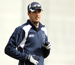 Middlesex's Steven Finn warms up - Photo mandatory by-line: Robbie Stephenson/JMP - Mobile: 07966 386802 - 04/05/2015 - SPORT - Football - London - Lords  - Middlesex CCC v Durham CCC - County Championship Division One