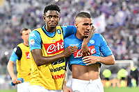 Diawara and Allan cry at the end of the match. Allan e Diawara piangono a fine partita <br /> Firenze 29-04-2018 Stadio Artemio Franchi Football Calcio Serie A 2017/2018 Fiorentina - Napoli . Foto Andrea Staccioli / Insidefoto