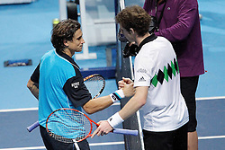 25.11.2010, Marriott Country Hall, London, ENG, ATP World Tour Finals, im Bild Murray, Andy (GBR) and Ferrer, David (ESP), EXPA/ InsideFoto/ Semedia+++++ ATTENTION - FOR AUSTRIA/AUT, SLOVENIA/SLO, SERBIA/SRB an CROATIA/CRO CLIENT ONLY +++++