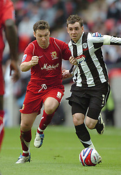 TOM NEWEY, GRIMSBY TOWN, CAPTAIN, Milton Keynes MK Dons-Grimsby Town, Johnstones Paint Trophy Final Wembley 30th March 2008, Score 2-0