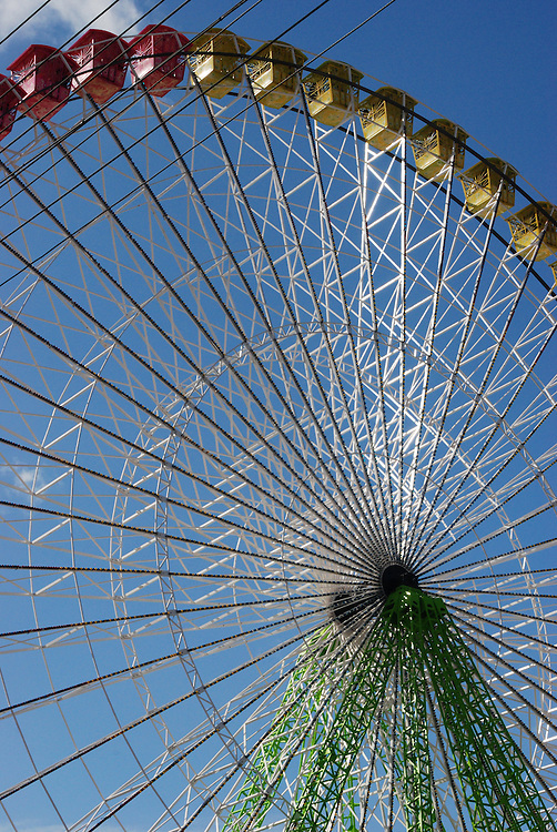 Enormous ferris wheel during Feria-- Seville, Spain