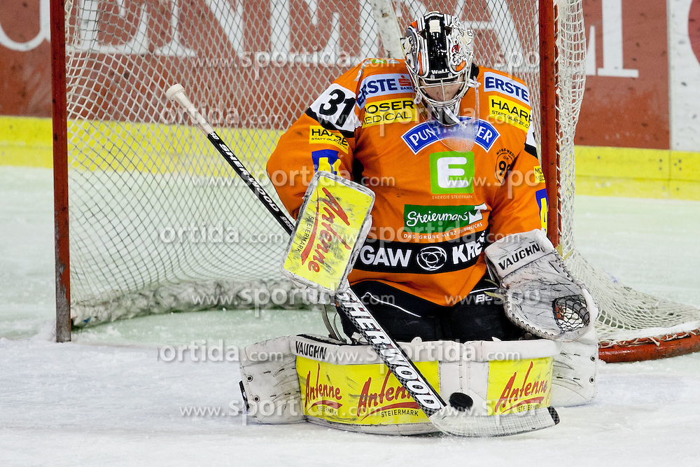 Fabian Weinhandl (Moser Medical Graz 99ers, #31) during ice-hockey match between HDD Tilia Olimpija and Moser Medical Graz 99ers in 42nd Round of EBEL league, on Januar 15, 2012 at Hala Tivoli, Ljubljana, Slovenia. HDD Tilia Olimpija defeated Moser Medical Graz 99ers 4:2. (Photo By Matic Klansek Velej / Sportida)