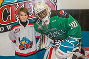 KELOWNA, CANADA - MARCH 17:  Pepsi Player of the game with Michael Herringer #30 of the Kelowna Rockets at the Kelowna Rockets game on March 17, 2017 at Prospera Place in Kelowna, British Columbia, Canada.  (Photo By Cindy Rogers/Nyasa Photography,  *** Local Caption ***
