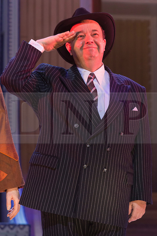 © Licensed to London News Pictures. 30/01/2015. London, England. Pictured: Hugh Sachs as Moonface Martin. The Sheffield Crucible Theatre production of Cole Porter's classic musical comedy, Anything Goes, opens at the New Wimbledon Theatre, London, before embarking on a UK tour. Opening on 29 January and running to 7 February 2015, the musical is directed by Daniel Evans with Debbie Kurup as Reno and Matt Rawl as Billy, featuring Hugh Sachs, Simon Rouse and Jane Wymark. Photo credit: Bettina Strenske/LNP