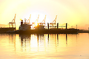 Cape Town Port photography at sunrise