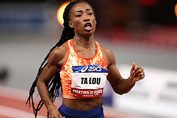 February 7, 2018 - Paris, Ile-de-France, France - Marie-Josée Ta Lou of Ivory Coast wins the 60m during the Athletics Indoor Meeting of Paris 2018, at AccorHotels Arena (Bercy) in Paris, France on February 7, 2018. (Credit Image: © Michel Stoupak/NurPhoto via ZUMA Press)