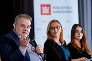 Warsaw, Poland - 2017 April 07: (L) Zbigniew Izdebski - Department of Biomedical Development and Sexology of Warsaw University speaks while The Day of Health - science conference in the National Library on April 07, 2017 in Warsaw, Poland.<br /> <br /> Mandatory credit:<br /> Photo by © © Adam Nurkiewicz / Mediasport / Mediasport<br /> <br /> Picture also available in RAW (NEF) or TIFF format on special request.<br /> <br /> Any editorial, commercial or promotional use requires written permission from the author of image.<br /> <br /> Adam Nurkiewicz declares that he has no rights to the image of people at the photographs of his authorship.