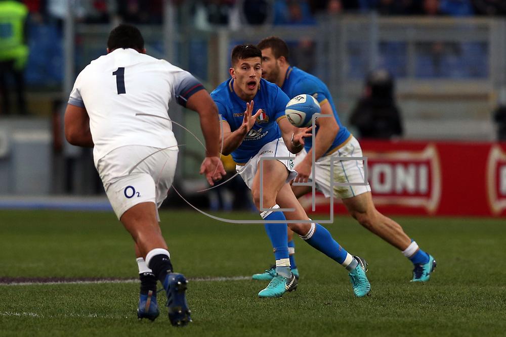 Roma 04/02/2018 Stadio Olimpico<br /> Natwest 6 nations Italia vs Inghilterra<br /> Tommaso Allan