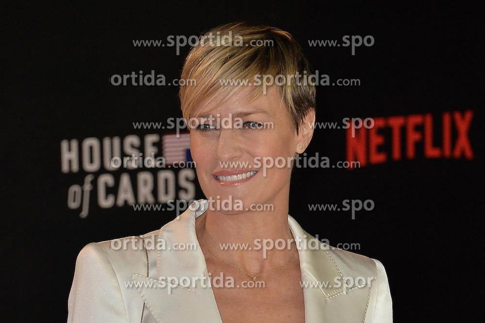 Robin Wright attends the World Premiere of 'House of Cards' Season 3 at The Empirem Leicester Square in London, England. 26th February 2015. EXPA Pictures &copy; 2015, PhotoCredit: EXPA/ Photoshot/ James Warren<br /> <br /> *****ATTENTION - for AUT, SLO, CRO, SRB, BIH, MAZ only*****