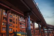 Tangenziale Est fotografata dalla via Prenestina - Over pass