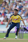 Yasir Arafat during the NatWest T20 Blast Semi Final match between Hampshire County Cricket Club and Lancashire County Cricket Club at Edgbaston, Birmingham, United Kingdom on 29 August 2015. Photo by David Vokes.