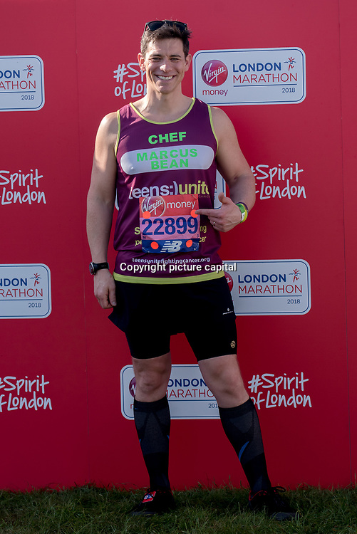 Runner at London Marathon 2018 on 22 April 2018, Blackhealth, London, UK.