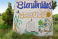 Sign in Jaruco, Mayabeque, Cuba.