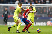 Atletico Madrid's Spanish midfielder Koke controls the ball during the Spanish Championship Liga football match between Atletico Madrid and Getafe on January 6, 2018 at the Wanda Metropolitano stadium in Madrid, Spain - Photo Benjamin Cremel / ProSportsImages / DPPI