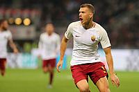 01.10.2017 - Milano  Serie A 7a   giornata  -  Milan-Roma  nella  foto: Edin Dzeko esulta dopo il gol dell'1 a 0