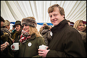 HON MR. AND MRS. AVON CAYZER, The Heythrop Hunt Point to Point. Cockle barrow. 25 January 2015