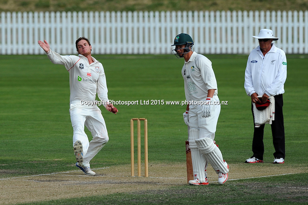 Canterbury player Ed Nuttall during their Plunket Shield match Central Stags v Canterbury at Saxton Oval, Nelson, New Zealand. Friday 20 March 2015. Copyright Photo: Chris Symes / www.photosport.co.nz