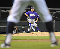 Mar 01, 2013; Irvine, CA, USA; Action during a baseball game between the Portland Pilots and Irvine Anteaters. Portland won 2 to 0.